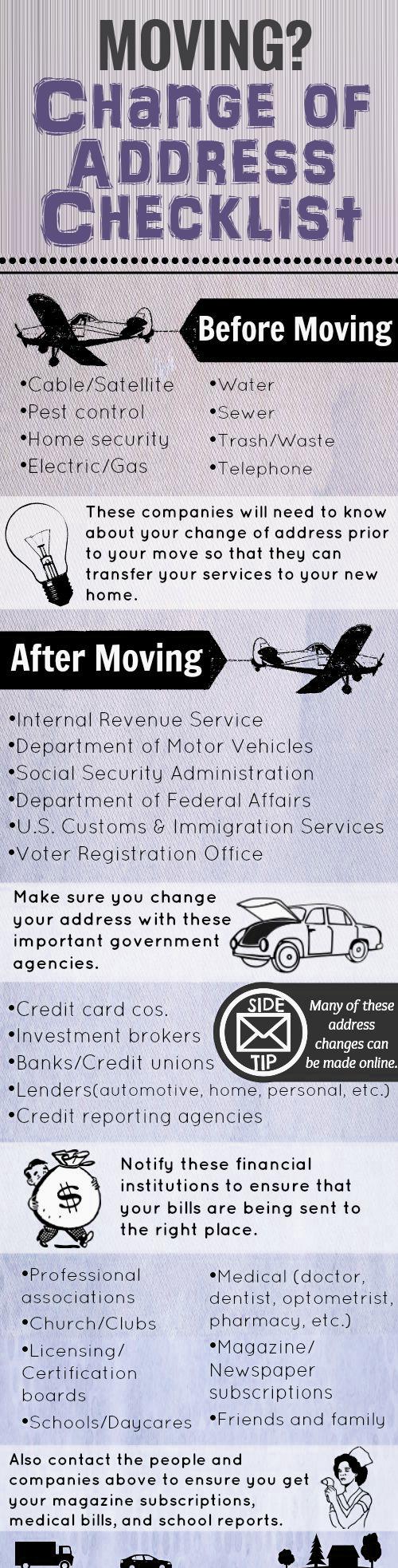 Moving-Change-of-Address-Checklist-infographic Moving? Change of Address Checklist Orlando | Central Florida